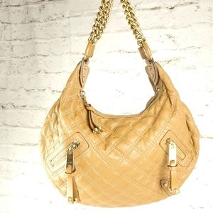 Marc Jacobs Camel Leather Quilted Banana Handbag